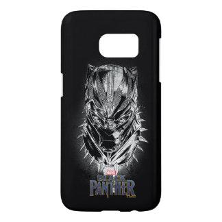 Black Panther   Black & White Head Sketch Samsung Galaxy S7 Case