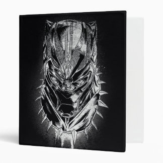 Black Panther   Black & White Head Sketch Vinyl Binder