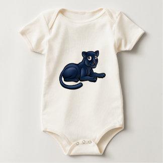 Black Panther Cartoon Character Baby Bodysuit