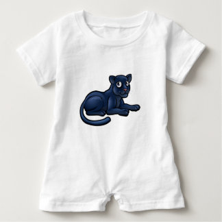 Black Panther Cartoon Character Baby Romper