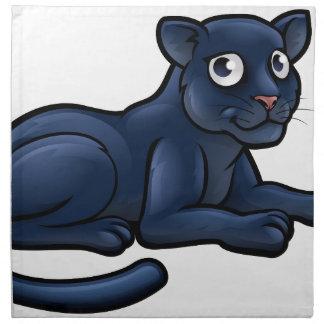 Black Panther Cartoon Character Napkin