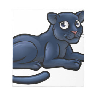 Black Panther Cartoon Character Notepad