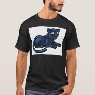 Black Panther Cartoon Character T-Shirt