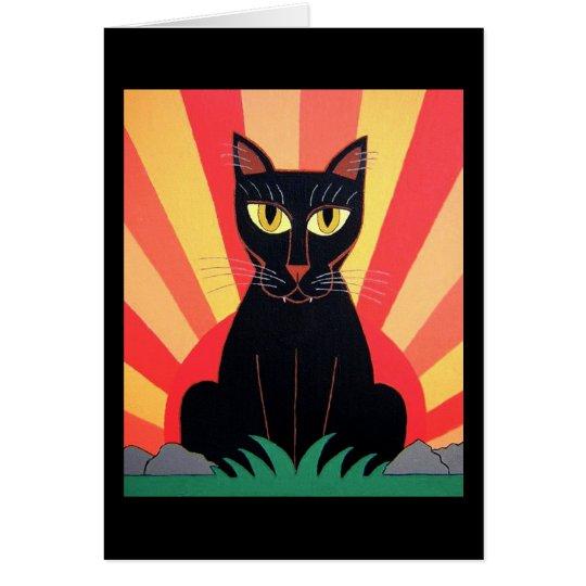 Black Panther Cat Card