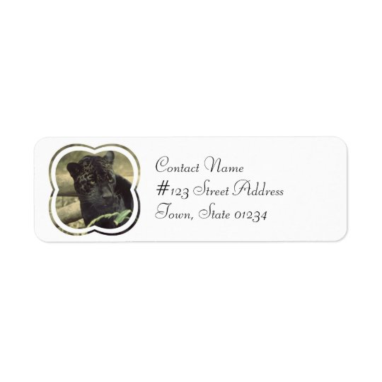 Black Panther Cat Mailing Label