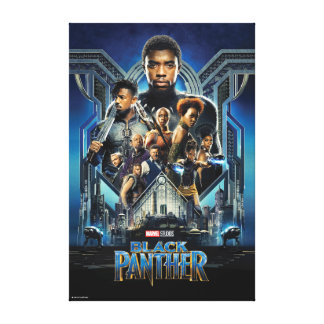Black Panther | Characters Over Wakanda Canvas Print