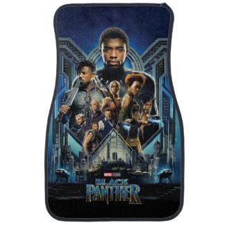 Black Panther   Characters Over Wakanda Car Mat