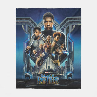 Black Panther | Characters Over Wakanda Fleece Blanket