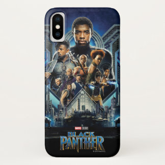 Black Panther | Characters Over Wakanda iPhone X Case