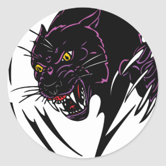 Black panther classic round sticker