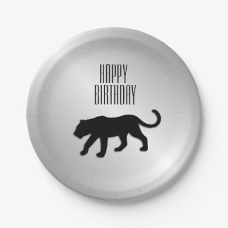 Black Panther Custom Party Paper Plate