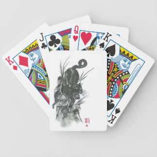 Black Panther Descending Art Playing Cards