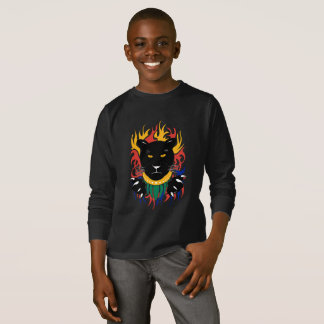 Black Panther double sided on black T-Shirt