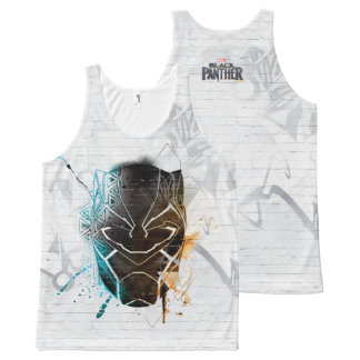 Black Panther | Dual Panthers Street Art All-Over-Print Tank Top