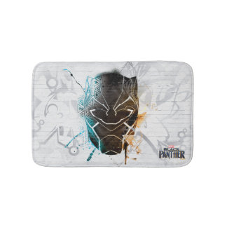 Black Panther | Dual Panthers Street Art Bath Mat
