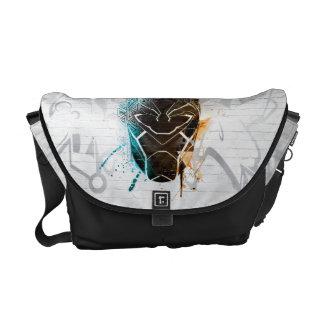Black Panther | Dual Panthers Street Art Courier Bag