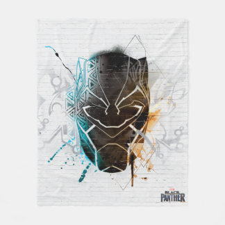 Black Panther | Dual Panthers Street Art Fleece Blanket