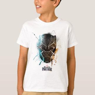 Black Panther   Dual Panthers Street Art T-Shirt