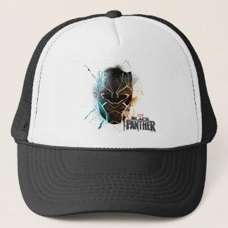 Black Panther   Dual Panthers Street Art Trucker Hat