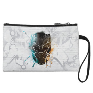 Black Panther | Dual Panthers Street Art Wristlet