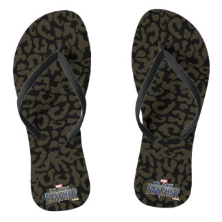 Black Panther | Erik Killmonger Panther Pattern Flip Flops