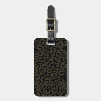 Black Panther   Erik Killmonger Panther Pattern Luggage Tag