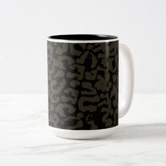 Black Panther | Erik Killmonger Panther Pattern Two-Tone Coffee Mug