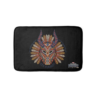 Black Panther | Erik Killmonger Tribal Mask Icon Bath Mat