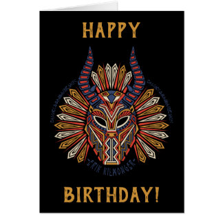 Black Panther   Erik Killmonger Tribal Mask Icon Card
