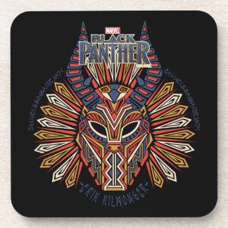 Black Panther | Erik Killmonger Tribal Mask Icon Coaster