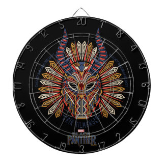 Black Panther | Erik Killmonger Tribal Mask Icon Dartboard