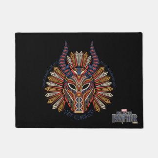 Black Panther | Erik Killmonger Tribal Mask Icon Doormat