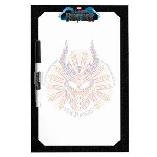 Black Panther   Erik Killmonger Tribal Mask Icon Dry Erase Board