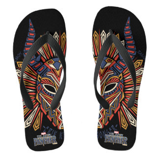 Black Panther | Erik Killmonger Tribal Mask Icon Flip Flops