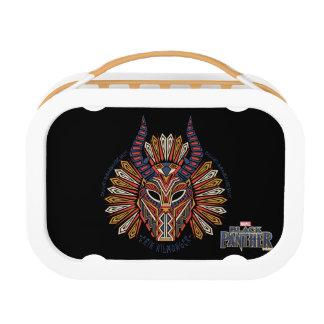 Black Panther   Erik Killmonger Tribal Mask Icon Lunch Box