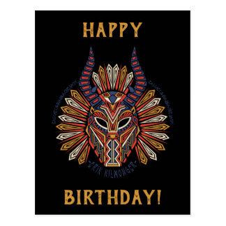 Black Panther   Erik Killmonger Tribal Mask Icon Postcard