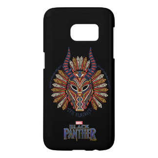 Black Panther   Erik Killmonger Tribal Mask Icon Samsung Galaxy S7 Case