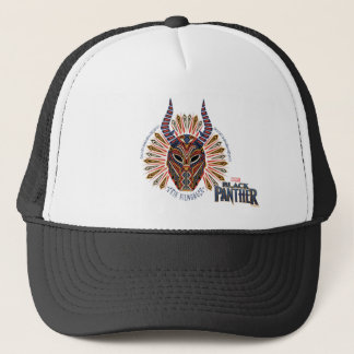 Black Panther   Erik Killmonger Tribal Mask Icon Trucker Hat