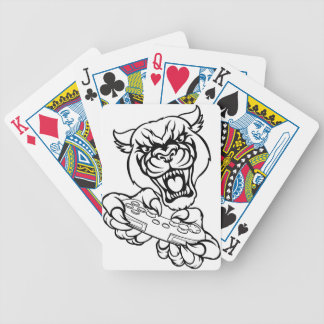 Black Panther Gamer Mascot Bicycle Playing Cards