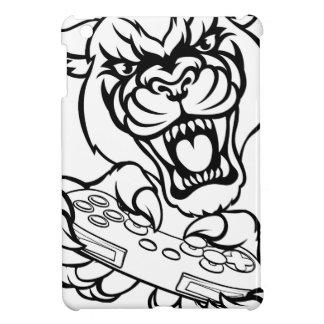 Black Panther Gamer Mascot iPad Mini Cover