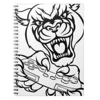 Black Panther Gamer Mascot Notebook