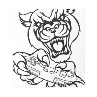 Black Panther Gamer Mascot Notepad