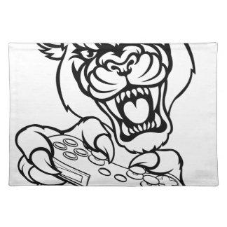 Black Panther Gamer Mascot Placemat