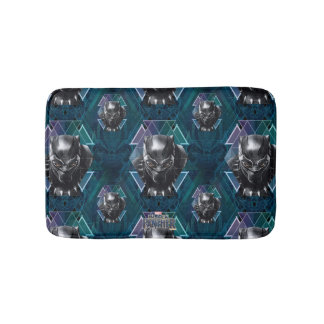 Black Panther | Geometric Character Pattern Bath Mat