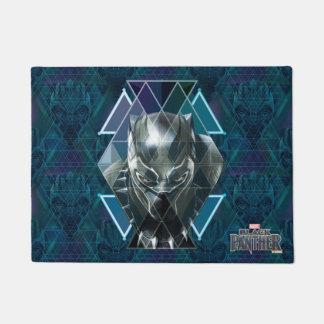 Black Panther | Geometric Character Pattern Doormat