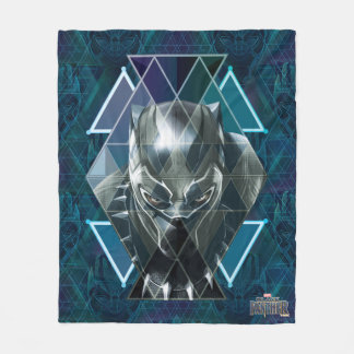 Black Panther | Geometric Character Pattern Fleece Blanket