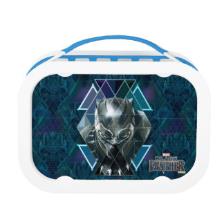 Black Panther   Geometric Character Pattern Lunch Box