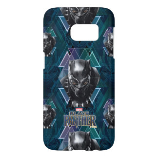 Black Panther   Geometric Character Pattern Samsung Galaxy S7 Case