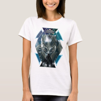 Black Panther | Geometric Character Pattern T-Shirt