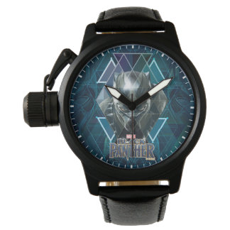 Black Panther   Geometric Character Pattern Watch